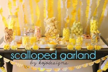 D.I.Y.Scalloped Garland สายรุ้งสำหรับปาร์ตี้ ทำเองได้ง่ายจัง 17 - DIY