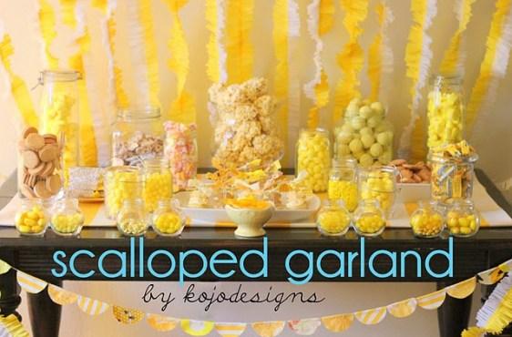 IMG 2753  D.I.Y.Scalloped Garland สายรุ้งสำหรับปาร์ตี้ ทำเองได้ง่ายจัง