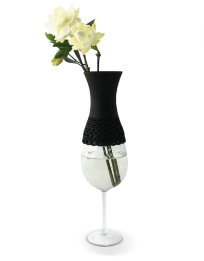Lace vase,new way to reuse 17 - Lace vase