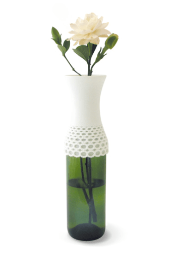 Lace vase,new way to reuse 16 - Lace vase