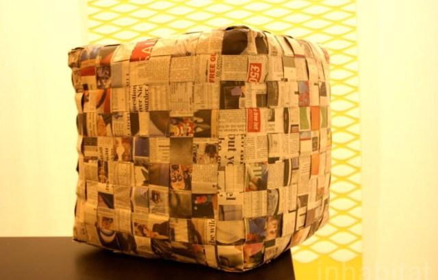 ไอเดียรีไซเคิล กระดาษหนังสือพิมพ์ 17 - paper craft