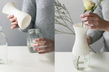 Lace vase,new way to reuse 15 - rubber