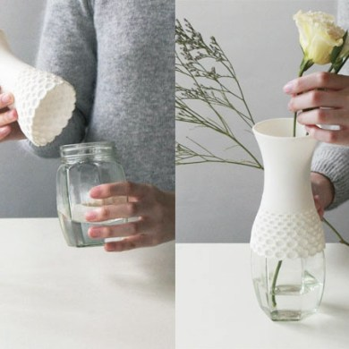 Lace vase,new way to reuse 15 - Lace vase