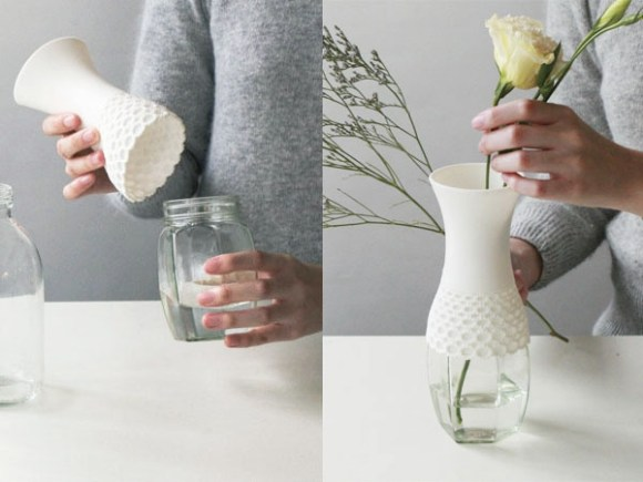 lace 02b l 580x435 Lace vase,new way to reuse