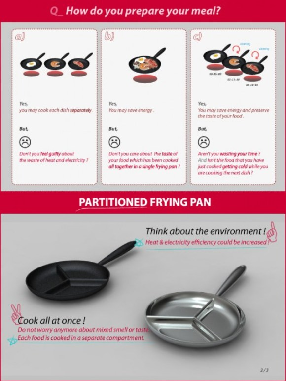 p2upcorrigerupup 580x772 Partitioned Frying Pan