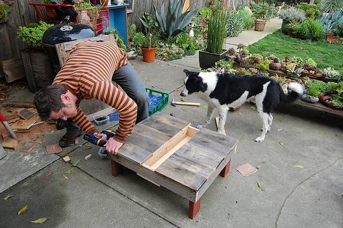 D.I.Y.โต๊ะปลูกต้นไม้..จากลังไม้เก่า 17 - DIY