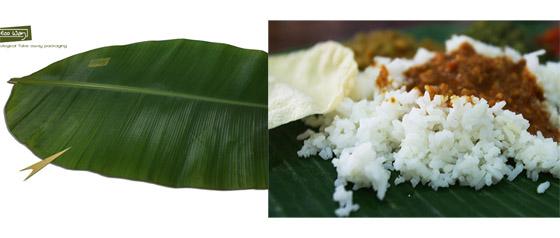 B 5 Banana Leaf Rice จานอาหาร ใช้ช่วงน้ำท่วม