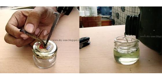 DIY ของใช้ยามน้ำท่วม-ตะเกียงขวดแก้ว 15 -