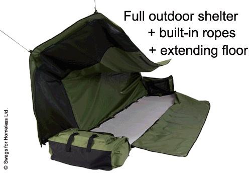 backpackbed 2 Backpack Bed เตียงนอนเคลื่อนที่พกพาได้