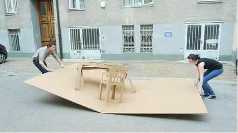 เฟอร์นิเจอร์ชุดพร้อมอพยพ..ชุดพับเก็บยกขึ้นชั้น2 สบายๆ 18 - cardboard
