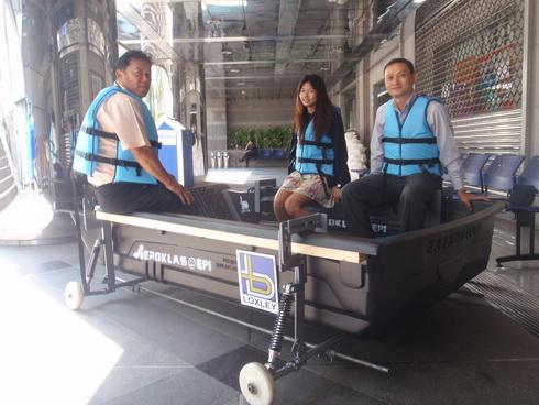 DIY. ติดล้อให้เรือ..วิ่งได้ทั้งบนบก และในน้ำ 13 - flood