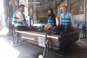 DIY. ติดล้อให้เรือ..วิ่งได้ทั้งบนบก และในน้ำ 22 - flood