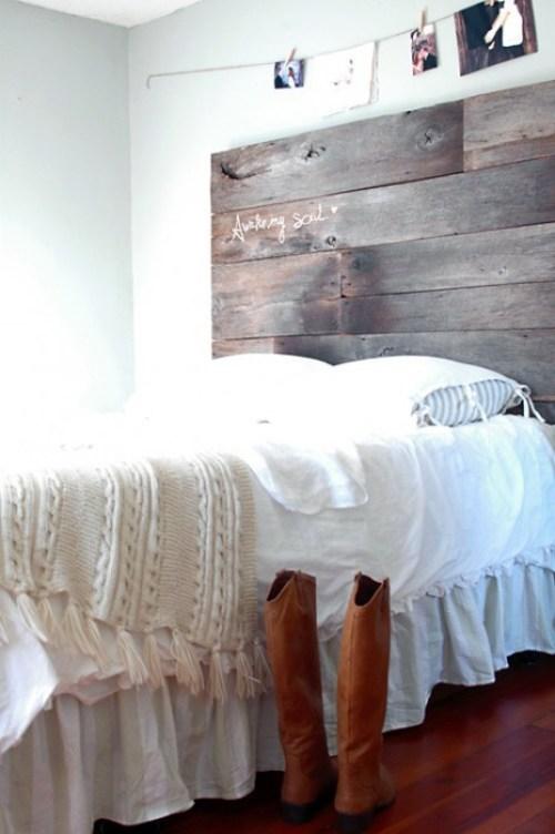 barnwood headboard final DIY ตกแต่งหัวเตียงนอนใหม่ หลังน้ำท่วม