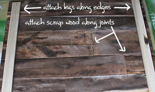 barnwood headboard step4 DIY ตกแต่งหัวเตียงนอนใหม่ หลังน้ำท่วม