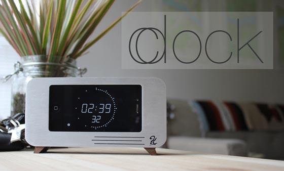 cdock iphone dock doubles as alarm clock 1 เปลี่ยน iPhone4 ให้กลายมาเป็นนาฬิกาสุดหรู