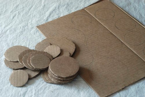 DIY.Table ornament 17 - cardboard