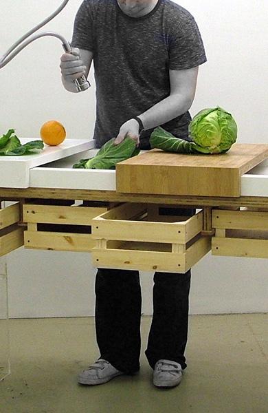 dezeen rinse ห้องครัวในยุคต่อไป..ต้องนำขยะและน้ำทิ้งกลับมาใช้ปลูกผักในครัวได้