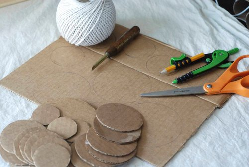 DIY.Table ornament 16 - cardboard