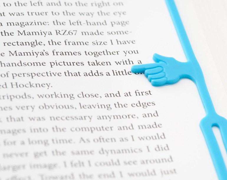 Pointing finger bookmark 13 - Pointing finger bookmark
