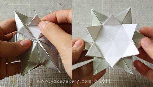 Origami Snowflake..เอาไว้ตกแต่งบรรยากาศช่วงปีใหม่ 15 - origami