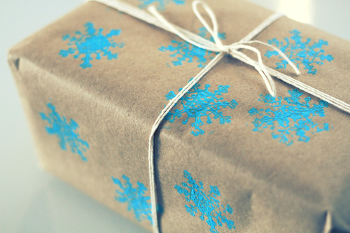 package1 DIY Wrapping Paper Tutorial  ถึงเวลาห่อของขวัญ