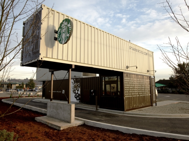 Starbucks สาขานี้ทำจากตู้คอนเทนเนอร์ 15 - Architecture