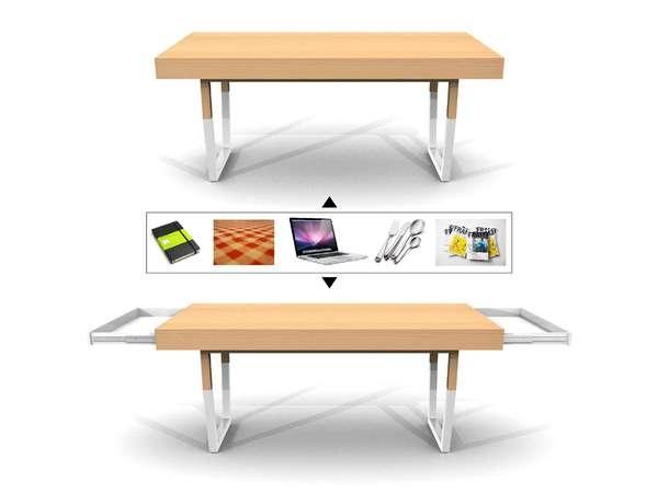 25550212 231428 Hidden Table..ลิ้นชักใต้โต๊ะ ที่ดูกลมกลม จนเหมือนเป็นจุดซ่อนเร้น