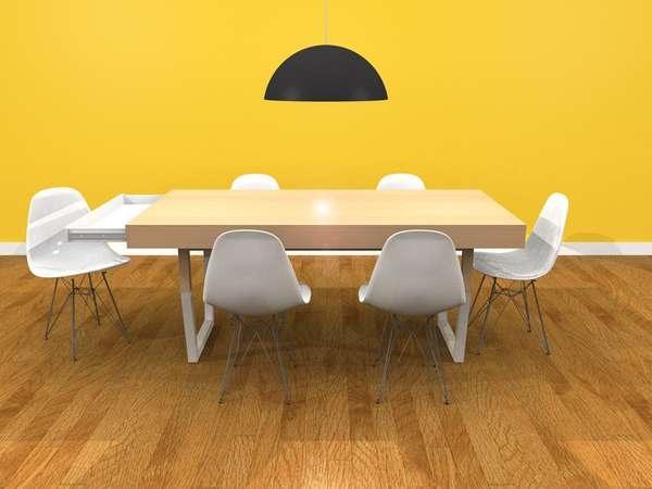 25550212 231444 Hidden Table..ลิ้นชักใต้โต๊ะ ที่ดูกลมกลม จนเหมือนเป็นจุดซ่อนเร้น