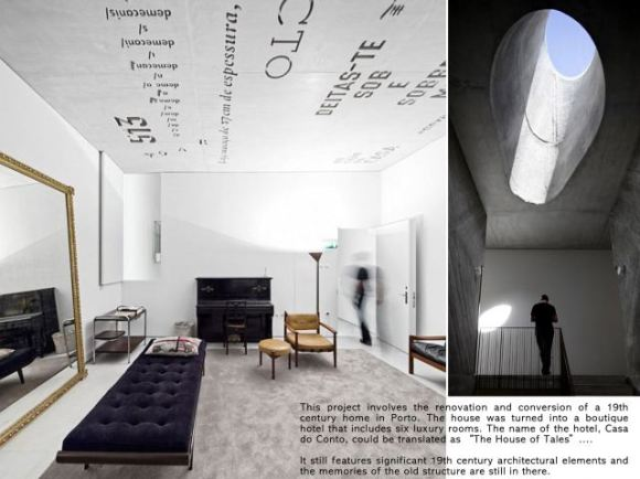 casa do conto 02 ellizoe 580x434 CASA DO CONTO โรงแรมบูทิค ออกแบบมีเอกลักษณ์ พร้อมเฟอร์นิเจอร์สไตล์วินเทจ
