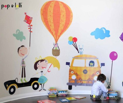 เปิดตัว Wall stickers,Pop&Lolli by Moms,Munchkins and Monsters 19 - eco-friendly