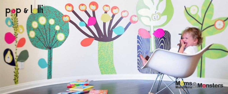 เปิดตัว Wall stickers,Pop&Lolli by Moms,Munchkins and Monsters 18 - eco-friendly