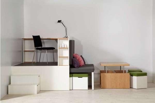 ตกแต่งห้องพื้นที่เล็ก..Compact Multi-Room Moveables 26 - LIVING