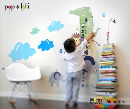 เปิดตัว Wall stickers,Pop&Lolli by Moms,Munchkins and Monsters 17 - eco-friendly