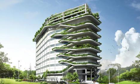 "Rising Green แนวทางใหม่สำหรับสถาปัตยกรรมในสไตล์ ""Tropical Architecture"" 6 - Apartment"