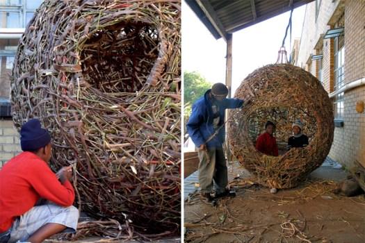 'weaver's nest' รังนกยักษ์ by Porky Hefer 21 - bird nest