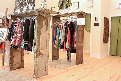 shutter clothing racks1 DIY Shutters Wall