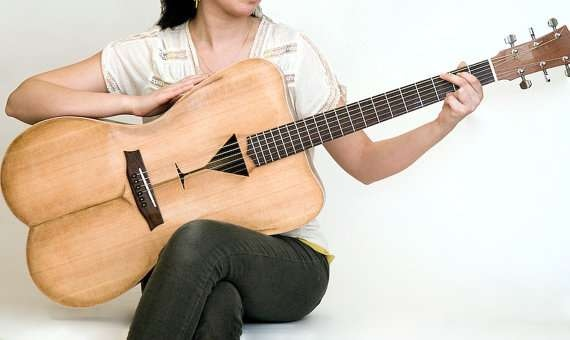 25550426 191512 Female Form 6 String Acoustic Guitar กีต้าร์โปร่งแนวๆ นู้ด..แต่อาร์ต