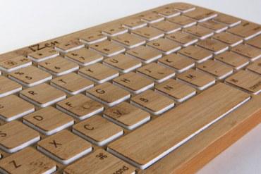 Bamboo Keyboard 23 - Wooden