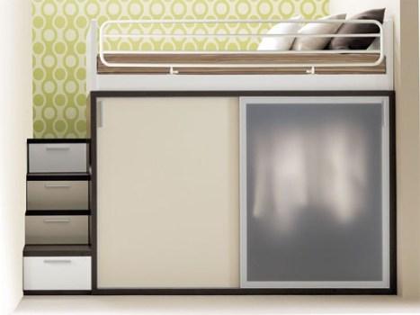 Composizione 911 11 467x350 เฟอร์นิเจอร์ สำหรับพื้นที่จำกัด..เตียง+ตู้+โต๊ะทำงาน ในชิ้นเดียว