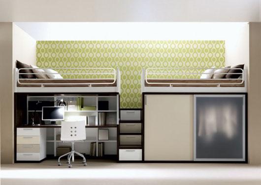 เฟอร์นิเจอร์ สำหรับพื้นที่จำกัด..เตียง+ตู้+โต๊ะทำงาน ในชิ้นเดียว 13 - bunk bed
