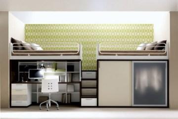 เฟอร์นิเจอร์ สำหรับพื้นที่จำกัด..เตียง+ตู้+โต๊ะทำงาน ในชิ้นเดียว 8 - bunk bed