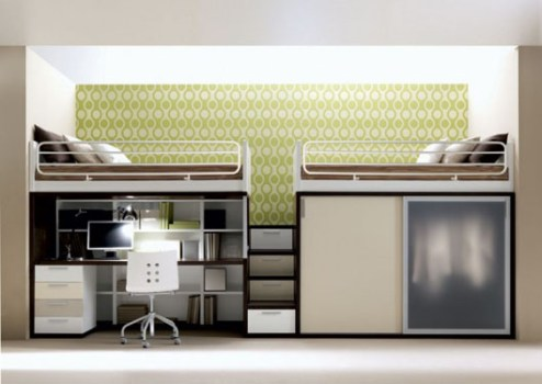 เฟอร์นิเจอร์ สำหรับพื้นที่จำกัด..เตียง+ตู้+โต๊ะทำงาน ในชิ้นเดียว 14 - bunk bed