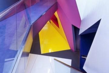 อาคารรูปทรงซิกแซก เส้นสาย และสีสัน...a feast for the senses 2 - centre for film and visual media