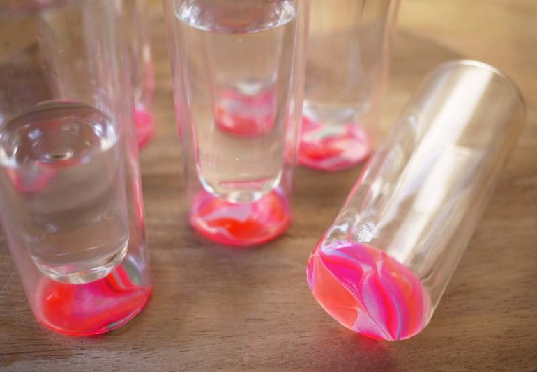 DIY.Glassware เติมสีสีสันให้แก้วใบเก่า 13 - DIY