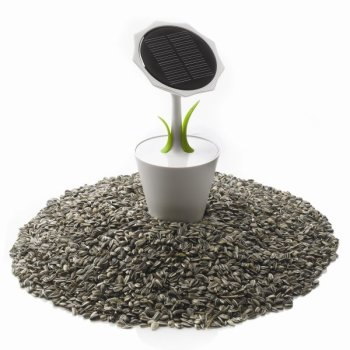 Solar Sunflower – sun energy charger in a flowerpot 4 - iPhone