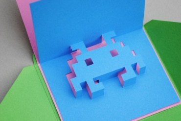 DIY.space invader pop-up card 18 - DIY
