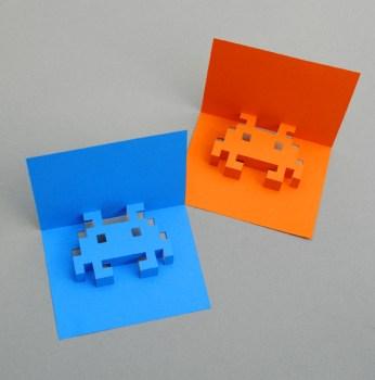 DIY.space invader pop-up card 5 - card