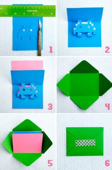 8 bit howto 230x350 DIY.space invader pop up card