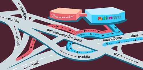 Promenade map The Promenade..ไลฟสไตล์มอลล์สุดหรู ย่านรามอินทรา