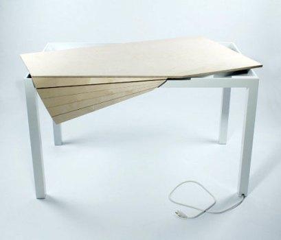 Tambour Table โต๊ะทำงานที่ซ่อนสายไฟและเก็บของได้อย่างชาญฉลาด 15 - table